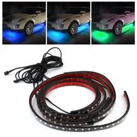 Decoration Light Wireless Remote Voice Control RGB Under Car LED Tube Light Lamp Strip LED Atmosphere RGB Neon Strip Car styling