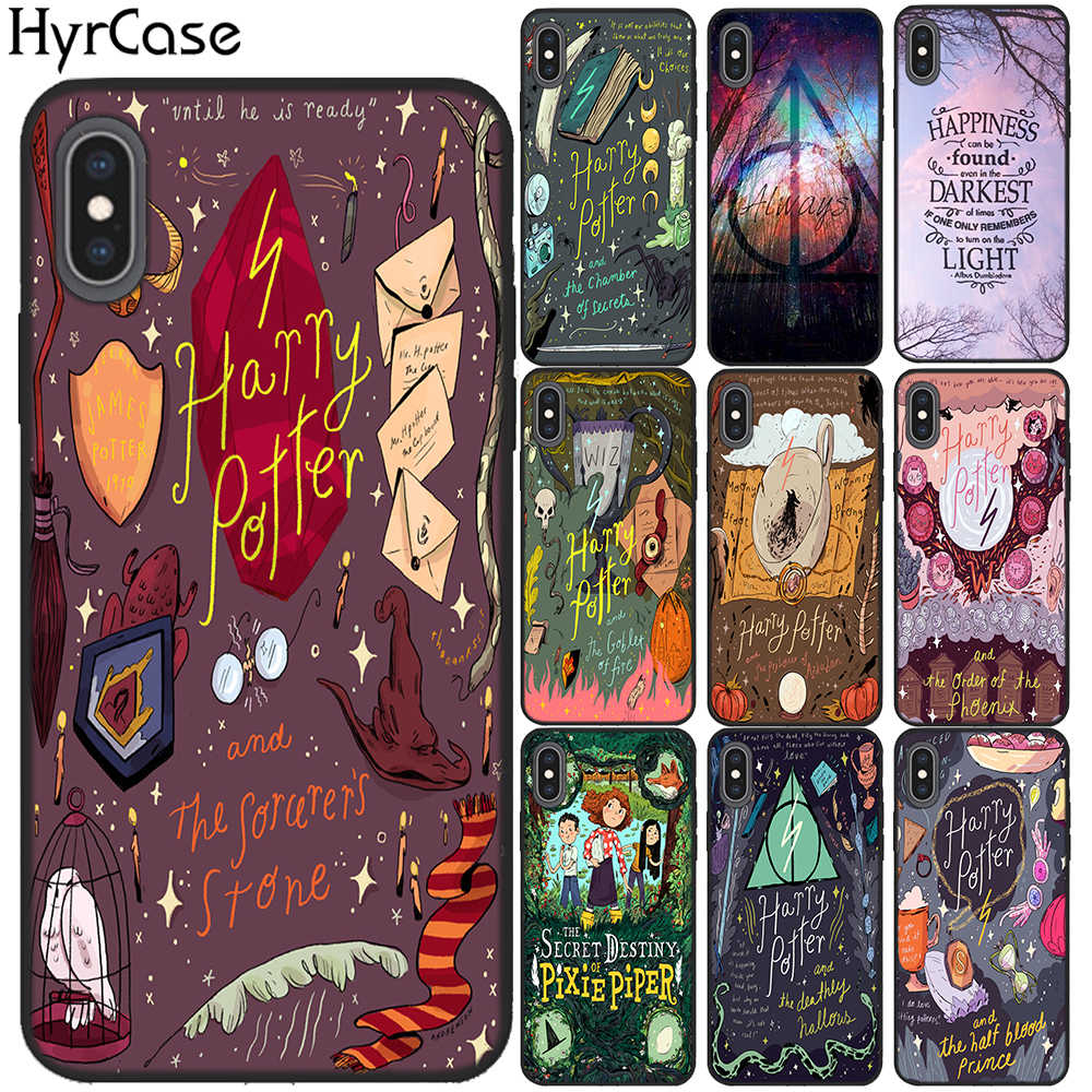 Always Hogwarts Comics Design Soft Silicone Phone Cases For iPhone X XS Max 7 6 6S 8 Plus 5S SE XR TPU Cover Case