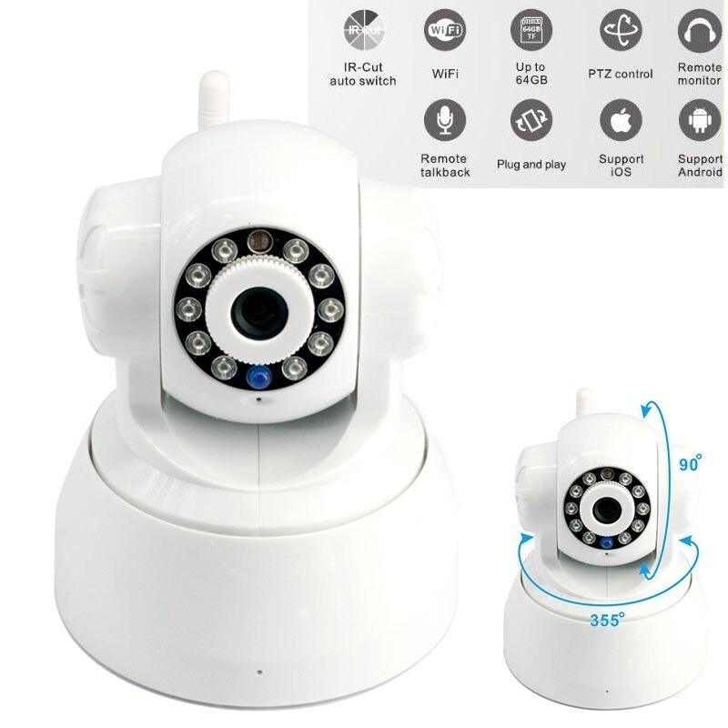 Caméra ip wifi sans fil sécurité à domicile téléphone intérieur vue en temps réel 720 P moniteur bébé/animal de compagnie