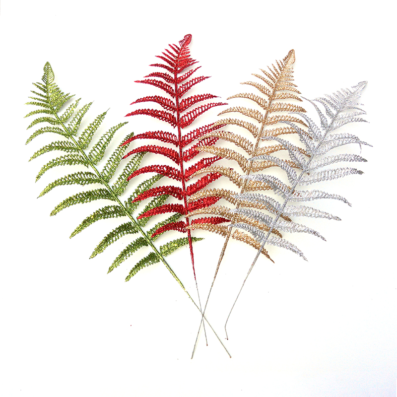 Christmas Ornaments 25CM Christmas Decoration Flower Grass Hollow Discharge Class Simulation Fake Flower Leaf