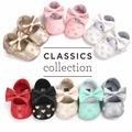 2017 New styles Baby girl shoes PU leather baby princess shoes Sweet heart Baby girl first walkers Cute newborn footwear