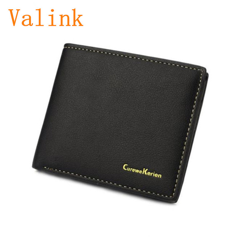 Brand new Men Wallet Leather Credit Card Photo Holder Billfold Purse Business Clutch Gift carteira masculina Top Quality etya bank credit card holder card cover
