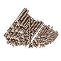 25Pcs 1 13Mm Hss M35 Cobalt Twist Drill Bit Set For Metal Wood Drilling
