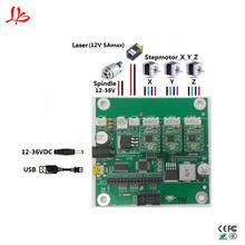 GRBL USB порт плата управления ЧПУ гравировальный станок лазерная гравировка машина доска