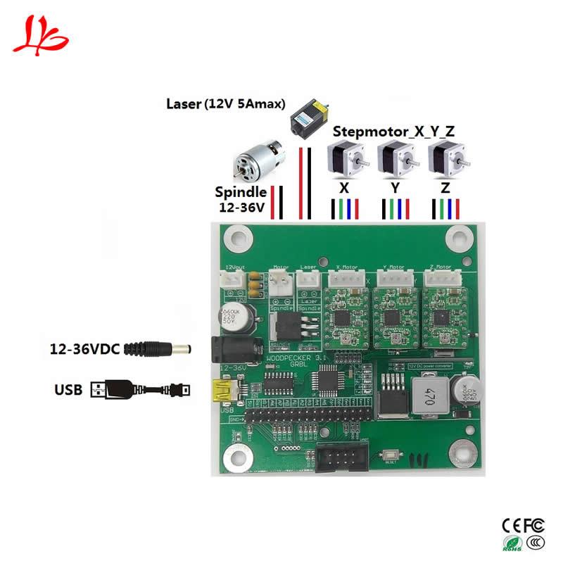 цена на GRBL USB port control board cnc engraving machine laser engraving machine board