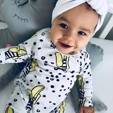 TinyPeople Banana Baby Rompers Boys Girls Cotton Jumpsuits Newborn lovely pajamas spring autumn Clothes Overalls
