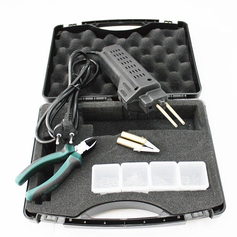 Горячей степлер пластиковый ремонт сварки бампер автомобиля инструменты сварщика пистолет скобы AC220V портативный автомобильный кузовные и...