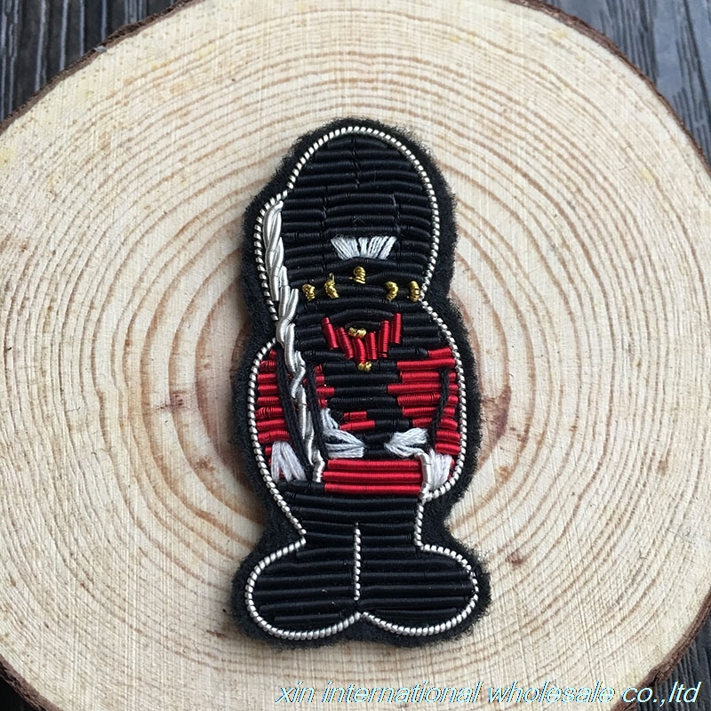 Royal bodyguard - cartoon guard badge Fashion Design badges High hand embroidery pins for clothes