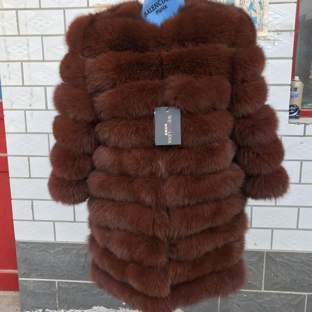2018 100% naturale pelliccia di volpe di alta quitaly di volpe cappotto di pelliccia del manicotto del cappotto