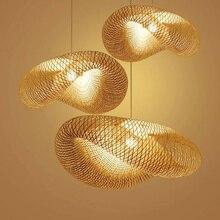 Китайский творческий ручной работы бамбуковые люстры Юго-Восточной Азии гостиной лампы простой личности кабинет бамбуковая лампа