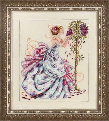 Needlework  14CT Cross Stitch, DIY Count Cross Stitch, Embroidery Set , MD124 Rose Fairy