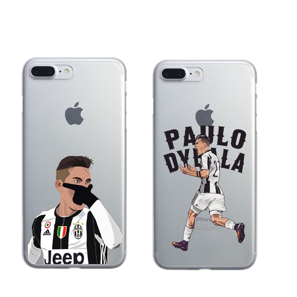 Coque Sport Football Soccer Star Ronaldo Messi Paulo Dybala pogba Hard Phone Case Cover for iPhone 5 5S SE 6 6SPlus 7 8 Plus X