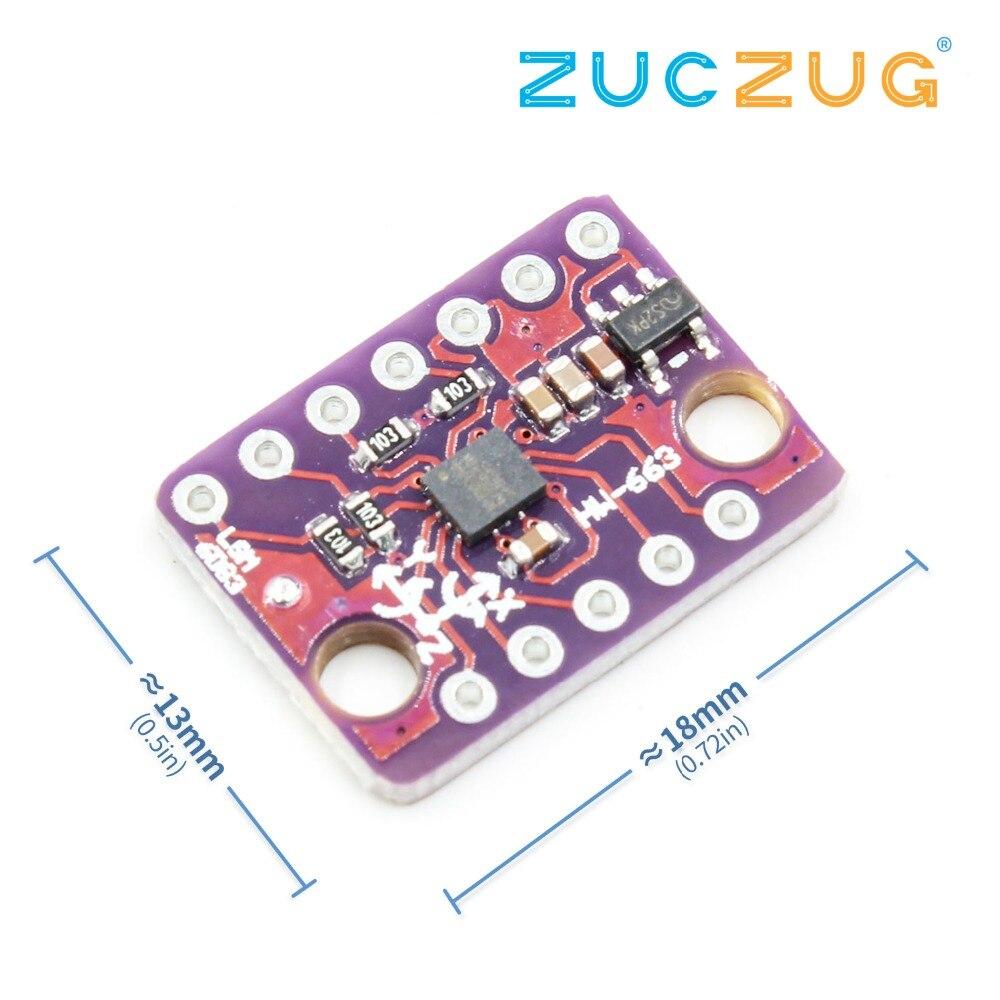 GY-LSM6DS3 LSM6DS3 Accelerometer Gyro Embedded Digital Temperature Sensor Module SPI IIC I2C Interface Module 8kb FIFO Buffer 5V