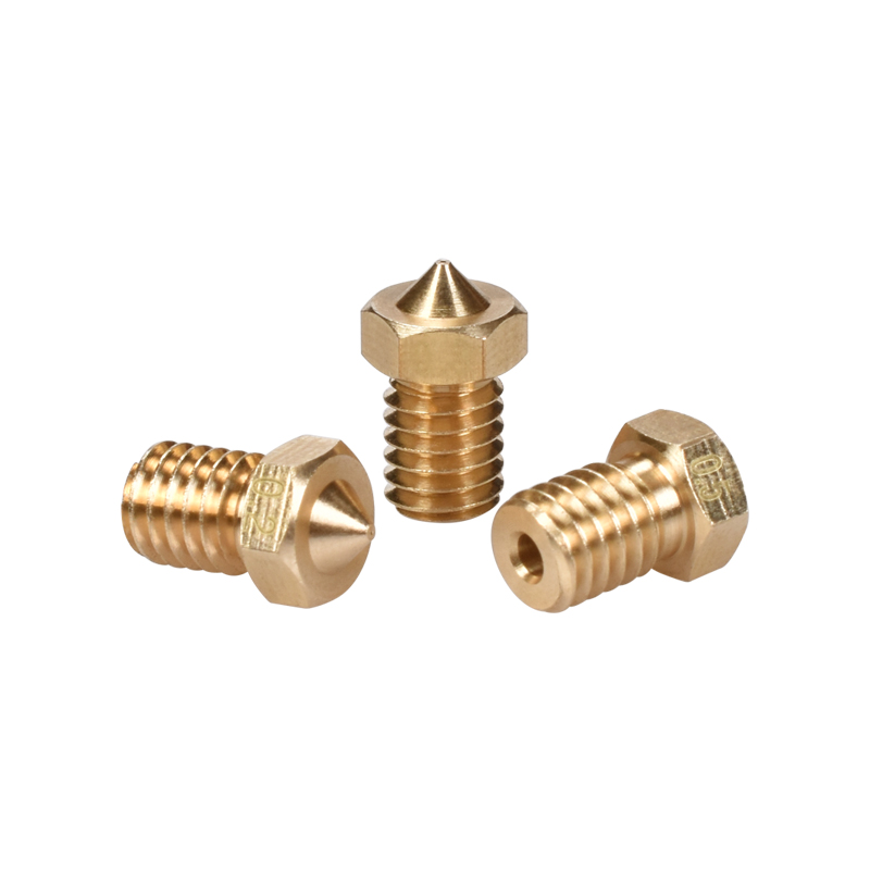 E3D V6&V5 J-Head Brass Nozzle 3D Printer Extruder Nozzles 0.2/0.25/0.3/0.4/0.5/0.6/0.8/1.0 Mm For 1.75mm Filament Hotend