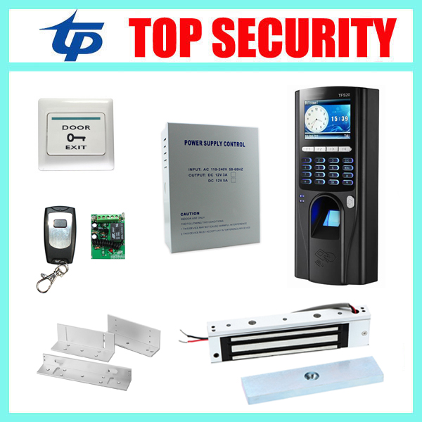 Biometric fingerprint door access control system with RFID card reader TCP/IP USB color screen fingerprint access controller