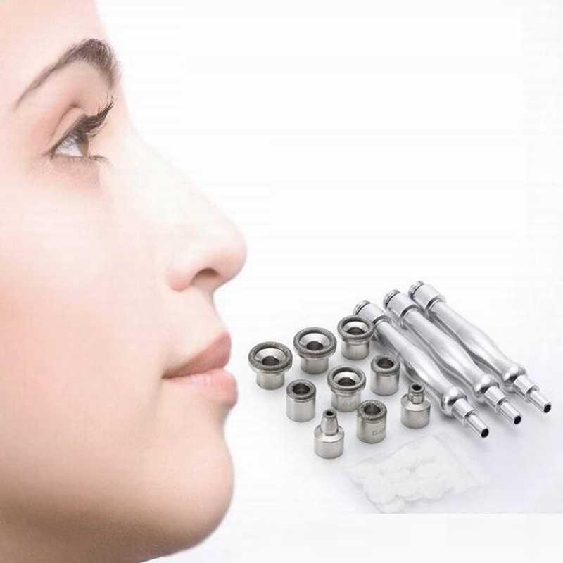 Yüz Bakım Aracı Mikrodermabrazyon Elmas Değneklerini Pamuk Filtre cilt peelingi 9 Uçlu 3 Değnek Elmas Dermabrazyon