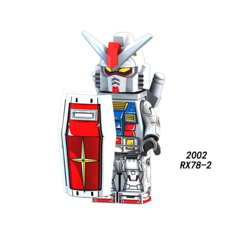 Одиночная Продажа Супер Герои Звездные войны 2002 GUNDAM RX 78 1 Мини Строительные блоки