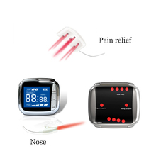 лучшая цена New CE 650nm Laser Therapy Wrist Diode LLLT for Diabetes Hypertension Treatment Watch Laser Pain Relief Therapeutic Apparatus