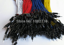 20cm 26 AWG both ends male cord 2.54mm 1p male to male Dupont Wire Jumper Cable For Arduino DIY Board  40pcs(8pcs x 5colors)
