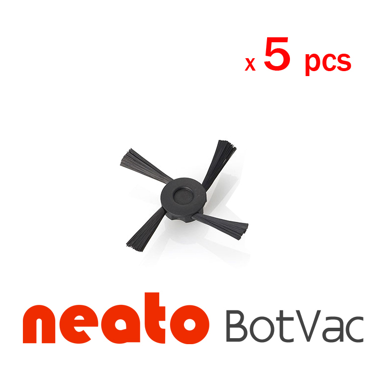 5pcs/lot Neato BotVac Series 75 70e 80 85 neato BotVac Vacuum Cleaner side brush 4x silicone blades 4x brush 1x beater bearing replacement for neato botvac 70e 75 80 85 automatic vacuum cleaner robots