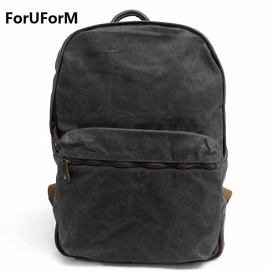 New waterproof Canvas Backpack Men Mochila Masculina Vintage Male 15 inch laptop Backpacks Preppy Style Backpacks LI-1640 2017 men mochila masculina 15 inch backpacks male large capacity bag men and women laptop backpack luggage