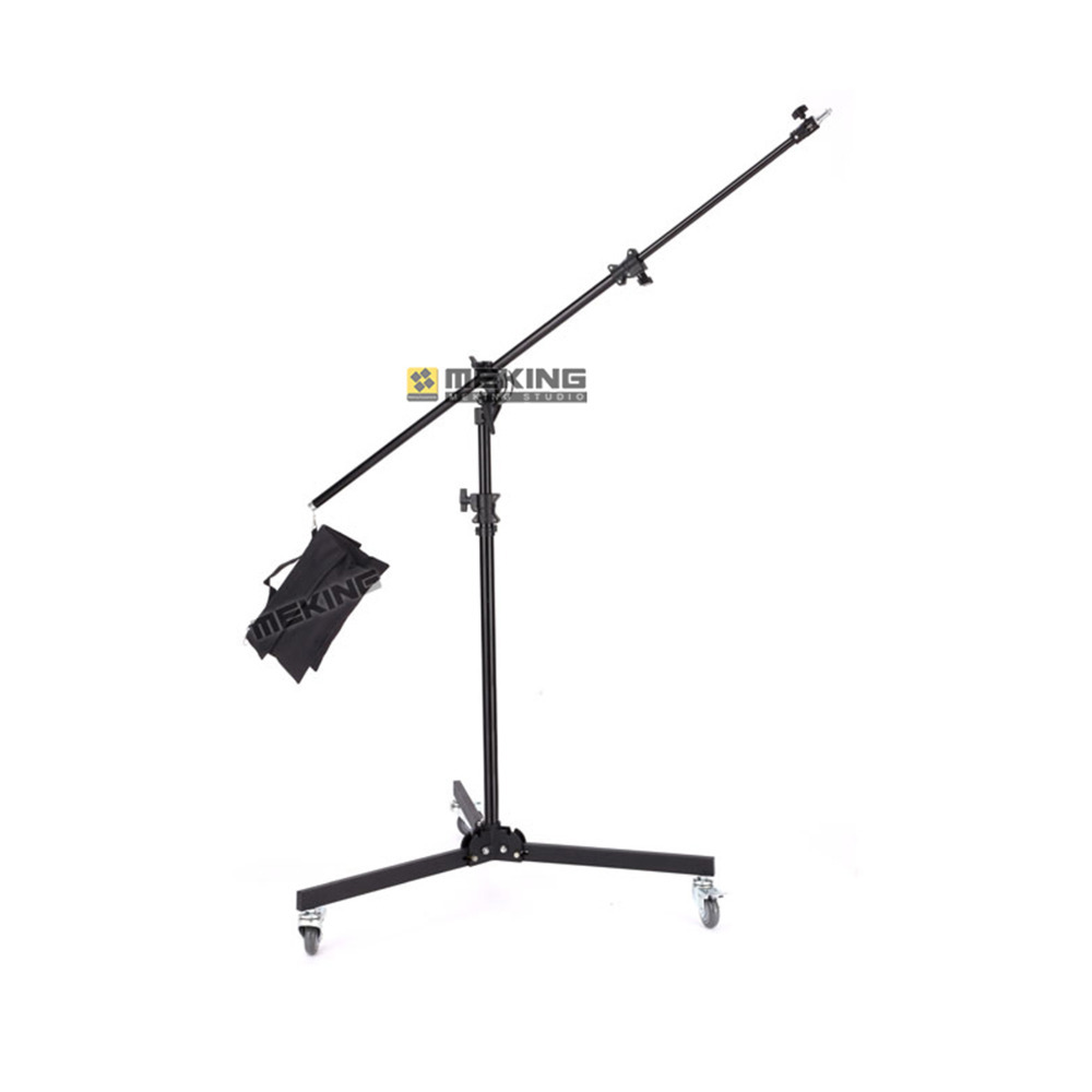 Meking 380cm/12ft Multi Function Light Stand Boom stands M-4 Double Duty with Extension Pole Tube Sand Bag support system