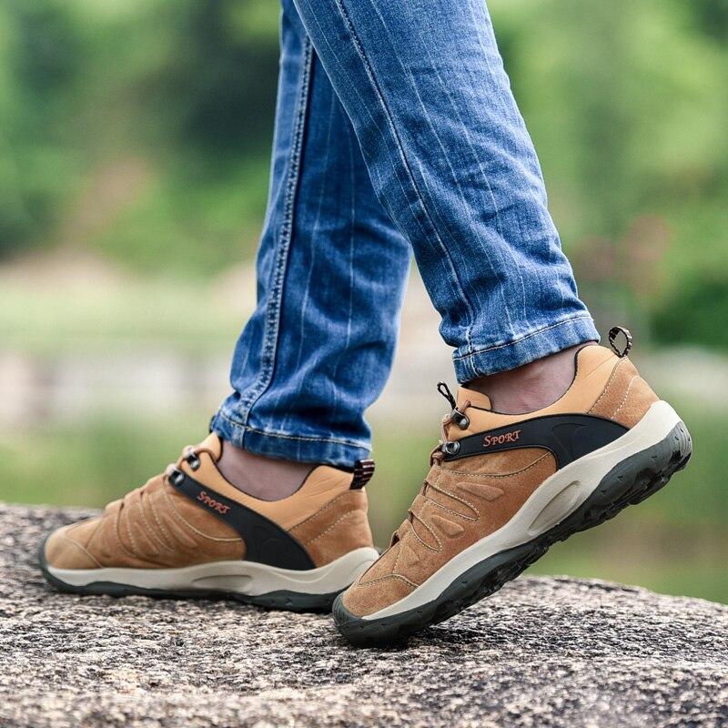 Nouveau Design hommes chaussures de randonnée en plein air 2018 chaussures de randonnée antidérapantes hommes baskets d'escalade de montagne