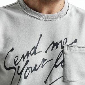 Image 2 - SIMWOOD ブランドパーカー男性 2020 春の新ファッションスリムフィット手紙プリント O ネックスウェット男性プラスサイズのトラックスーツ WT017020