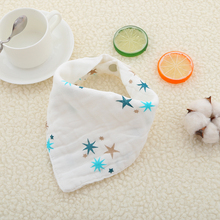 5pcs/lot Cotton Muslin  Baby babador bandana bibs for babies Scarf boys Girls baby bib burp Cloths Bibs Feeding