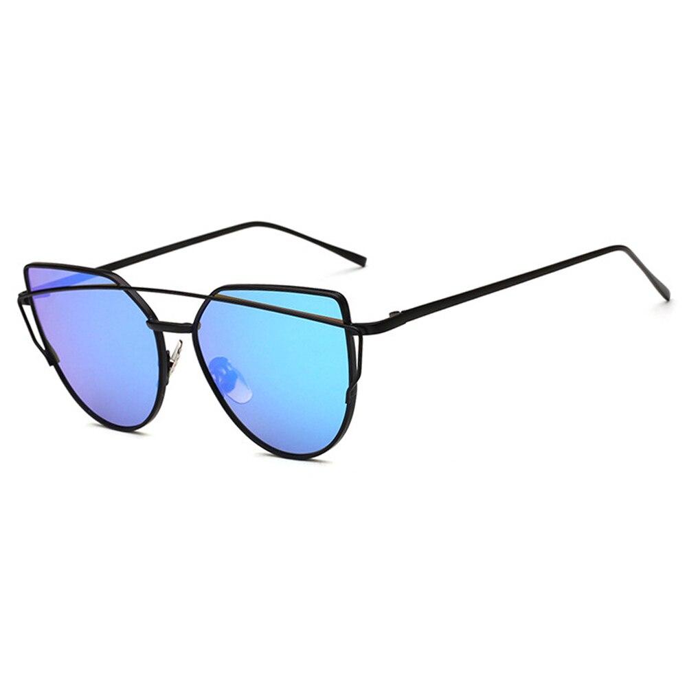 Brand Designer Cat Eye Sunglasses Women Female Vintage Metal Reflective Glasses For Women Mirror UV400 Retro Oculos De Sol Gafas in Women 39 s Sunglasses from Apparel Accessories