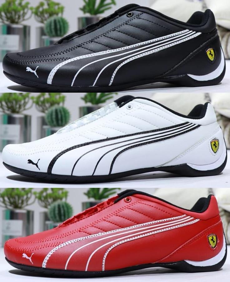 D'origine PUMA Hommes SF Avenir Kart Chat Kart Conduite chaussures de sport en Blanc Bas-top à lacets chaussures de course grande taille 39- 45