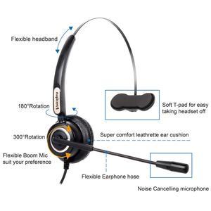 Image 2 - Voicejoy 콜 센터 헤드셋 (마이크 포함) 컴퓨터 및 pc 볼륨 제어 및 음소거 스위치 용 usb 플러그 헤드폰