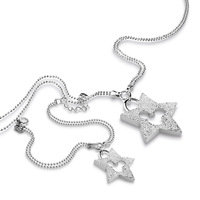 New Fashion Sterling Silver Set Jewelry Solid 925 Silver Star Mickey Necklace Bangle Set Charm Woman Accessories Birthday Gift