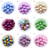 Free Shipping 20mm 100pcs Lot Fashion Jewelry Mix Color Resin Striped Beads Chunky Bubblegum Beads For