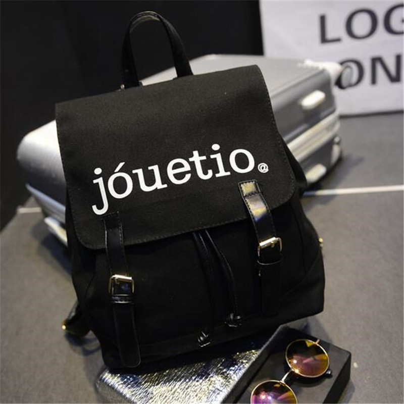 2016 Hot Canvas Backpack Fashion Boys Girls School Bag Pack Day Night Embroidery Rucksack Causal Shoulder
