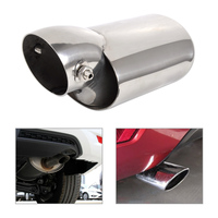 DWCX Car Styling High Grade 304 Stainless Steel Exhaust Tail Rear Muffler Tip End Pipe For