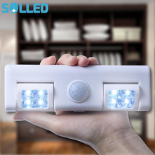 SOLLED 8LED Light Intelligent Human Body and Light Induction Lamp Light for Corridor Cabinet Bedroom Sensor Emergency AA Battary(China)