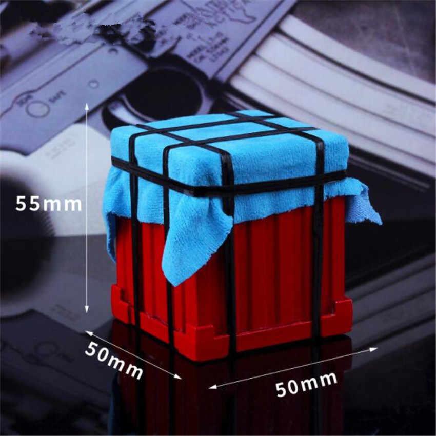 Jogo pubg ar gota abastecimento crate playerunknown battles battlegrounds cosplay adereços liga armadura modelo chaveiro frango jantar