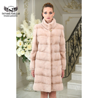 Tatyana Furclub Fur Coat Mandarin Collar Mink Coat Fur Natural Mink Fur Coats For Women Plus Size Full Pelt Outerwear Jacket