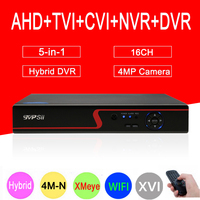 4mp CCTV Camera Red Panel Hi3521A XMeye 4M N 16CH 16 Channel 6 In 1 WIFI
