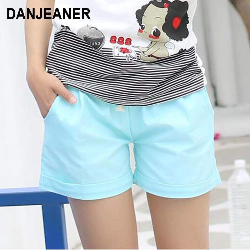 Women Cotton   Shorts   2017 Summer Fashion Candy Color Elastic Waist Drawstring   Short   Pants Woman Casual Plus Size   Shorts