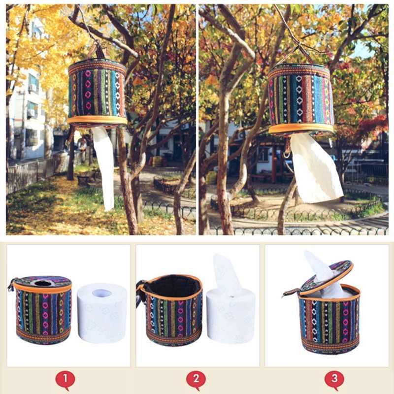Gadget Luar Ruangan Luar Ruangan Kemah Lipat Tray Nasional Kincir Angin Gulungan Kertas Tisu Kotak Penyimpanan Tas Kecil Tas Disesuaikan