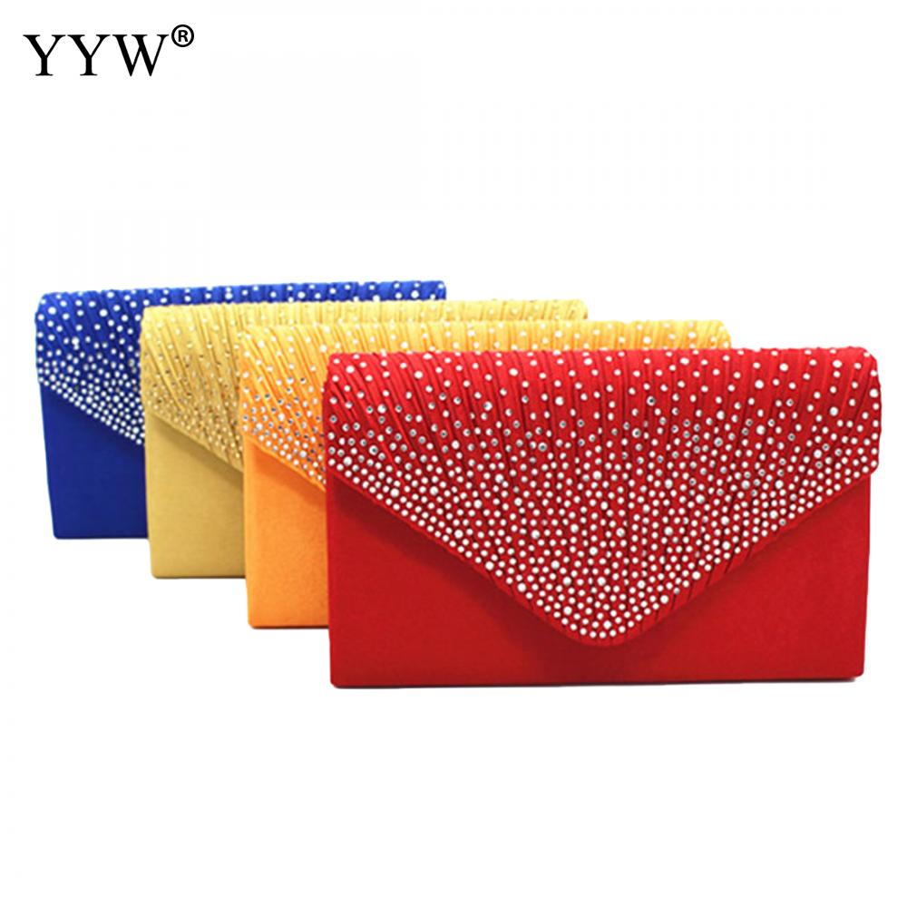 2018 Elegant Evening Party Clutch Bag Wedding Shoulder Solid 14 colors Women Handbags Ladies Fashion Bags Clutches Purse Wallet