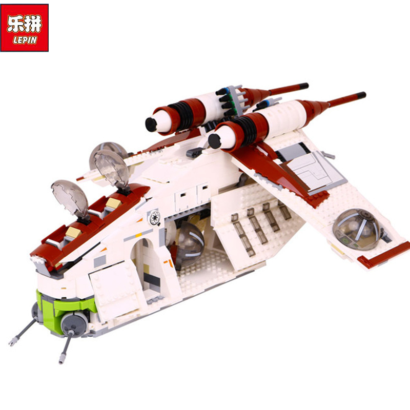 New Lepin 05041 Genuine Star War Series The The Republic Gunship Set Educational Building Blocks Bricks Educational Toys 75021 rollercoasters the war of the worlds