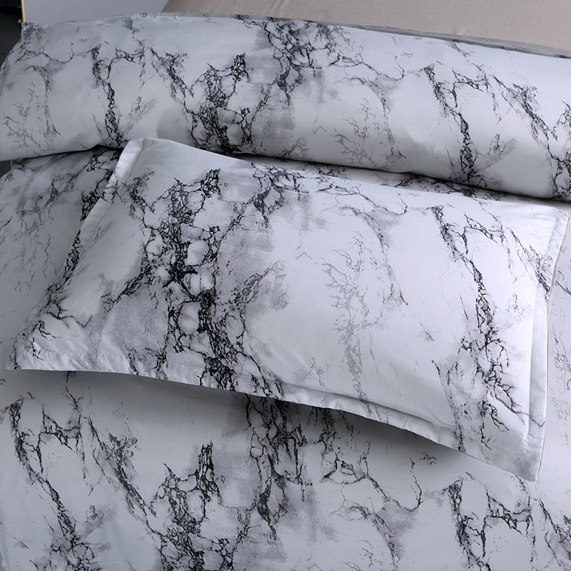 Image 3 - 5 Colors Bedding Set Nordic Modern Style Marble Pattern Printed Duvet Cover Set  Double Full Queen King Size Bed Linen 8 Size-in Duvet Cover from Home & Garden