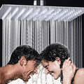 12 inch Square Stainless Steel Ultra-thin Showerheads 12 inch Rainfall Shower Head Rain Shower Not Includes Shower Arm
