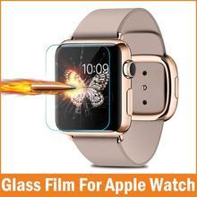 Nova premium film 0.26mm real de vidro temperado protetor de tela para apple watch 42mm 38mm smart watch acessórios pelicula de vidro