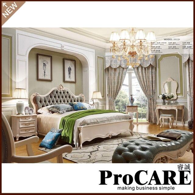 US $3438.0  New classic villa letto di mobili camera da letto mobili  costosi in New classic villa letto di mobili camera da letto mobili  costosida Set ...