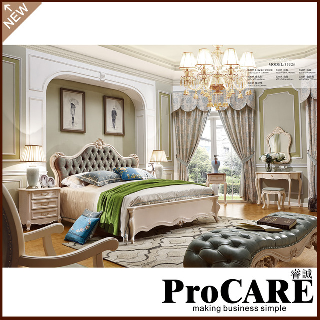 New Classic Furniture Expensive Villa Bed Of Bedroom Furniture