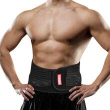 WOSAWE Waist Support Motorcycle Back Support Double Adjust Lumbar Brace Belt Slimming Bodybuilding Gym Fitness Belt